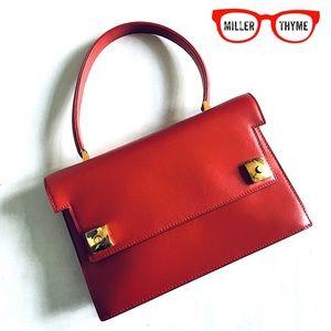 MORABITO PARIS/Traviata top handle red leather bag